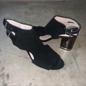 Louise et Cie Lo Vanita leather block vamp sandals